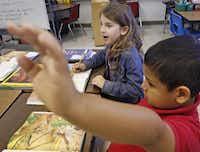 first grader phoenix hollingsworth speaks spanish to her two way dual language teacher alternative teacher certification dallas