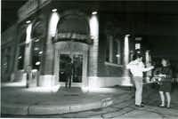 In this file photo from November 1989, people dance outside the Buffalo Club at 2700 Elm St. The location is currently home to The Boiler Room.