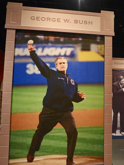 hail to the game bush library examines baseball and presidency