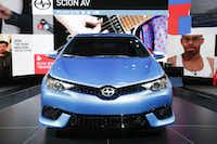 The 2016 Toyota Scion iM is on display at the New York International Auto Show. (AP Photo/Mark Lennihan, File)