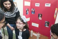 Maya Patel,5, describes her science project on friction during the Children's Garden Montessori Academy Pre-K Science Fair on Saturday, Feb. 21, 2015.   (Rex C. Curry/Special Contributor)(Rex C. Curry - Special Contributor)