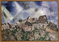 Chagall: Beyond Color opens Feb. 17 and runs through May 26 at the Dallas Museum of Art. The Cemetery (Le Cimetire), 1917, Marc Chagall Oil and pencil on linen; Overall: 27 3/8 x 39 3/8 in. (69.5 x 100 cm)