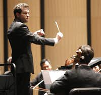 Richard McKay directs the Dallas Chamber Symphony concert in Dallas,  Tuesday, April 30, 2013.(Ron Heflin - Special Contributor)