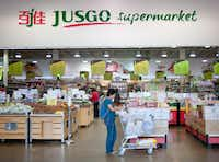 The Jusgo Supermarket in Plano is owned by a company based in Taiwan and caters to the Asian community.( BRANDON THIBODEAUX  -  NYT )