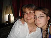 Claire Z. Cardona, then 15, and her mother, Sheila Ferran, evacuated to Natchez, Miss., in August 2005, then to Baton Rouge and to Gonzales, La.(Ferran family)