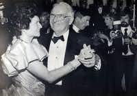 Bill and Rita Clements danced for photographers Jan. 20, 1987, at the second of four balls held as part of his second inaugural as Texas governor.
