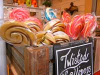 Swirled lollipops are among the goodies for sale at Miss Giddy's on High Street.( Helen Anders )