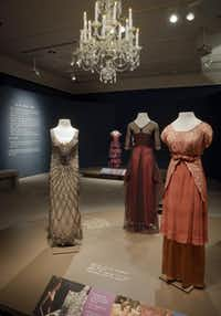 """Winterthur Musuem, costumes from the British television drama """"Downton Abbey,"""" are displayed at the museum in Wilmington, Del. The exhibit, which opens Saturday and runs through January 2015, will offer visitors a firsthand look at the design and creation of the period fashions that are a focal point of the television show, in the context of comparing country house life in Britain and the United States.James Schneck  -  AP"""