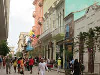 The streets of Havana are lined with architecturally interesting buildings painted in pastel colors.(Wesley Teo - Wesley Teo)