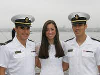 Siblings Chris Martinez, left, Jessica Martinez and Ryan Martinez attended a graduation brunch before Chris' graduation from the United States Naval Academy last year. All three have received appointments to attend the academy.(Photos submitted by RICK MARTINEZ)