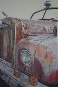 """Retired to Pink"" by Cari Brown(Colored Pencil Society of America)"