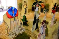 Anthony Carrillo, 85, built a nativity set made from stained glass for his retirement home.ROSE BACA