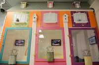 The condos for cats have a doll house look, with miniature furniture and brightly colored dcor that is hand-crafted by local artists. The East Lake Cat Care Center in LakeHighlands, which had a soft opening in November, offers medical care seven days a week, lodging and pet adoptions.(ROSE BACA)
