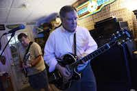Ken Hofmeister of The Catdaddies paid his way through law school at Southern Methodist University by playing guitar and singing in clubs in the Dallas area. Formed in 1998, the garage band, made up of corporate professionals, plays songs from the psychedelic 1960s and 1970s. Also pictured is Steve Richey, lead guitarist. To see a video of The Catdaddies perform live, visit neighborsgo.com/richardson.Rose Baca - neighborsgo staff photographer