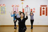 The Dallas Chinese Community Center in Richardson is a stronghold for all things Asian. Tina Chen participates in a line dancing class at the nonprofit center.(Rose Baca)