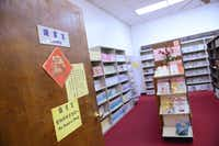 The library at the Dallas Chinese Community Center has about 20,000 traditional Chinese books   some imported from Taiwan.(Rose Baca)