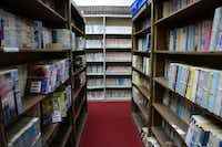 The library at the Dallas Chinese Community Center in Richardson has about 20,000 traditional Chinese book from Taiwan.(Rose Baca)