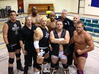 <TypographyTag18>The Christian Wrestling Federation, </TypographyTag18> founded by Rob Vaughn (front row, third from right), has brought in roughly 150 wrestlers since it started in 2000, Vaughn said.Photo courtesy ROB VAUGH<219,4,200>