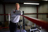 Rob Vaughn, the founder of the Christian Wrestling Federation, stands in the ring inside his training facility in Balch Springs on Dec. 10, 2013. The group, based in the Rockwall area, blends professional grappling with Christian ministry.( ROSE BACA )