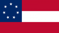 The first Confederate national flag, the one that flies over Six Flags Over Texas.(Wikimedia Commons)