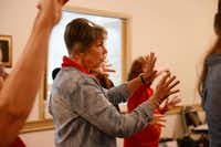 Merina White, a member of The Contemporary Chorale since 1973, practices with the group. The Richardson organization formed nearly 60 years ago as a women's lecture group and is now a singing group that includes about 40 men and women.(Rose Baca - neighborsgo staff photographer)