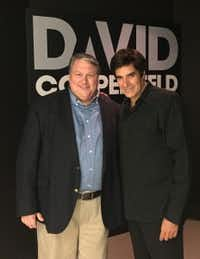 Wylie Mayor Eric Hogue and renowned illusionist David Copperfield. (SOURCE: CITY OF WYLIE)