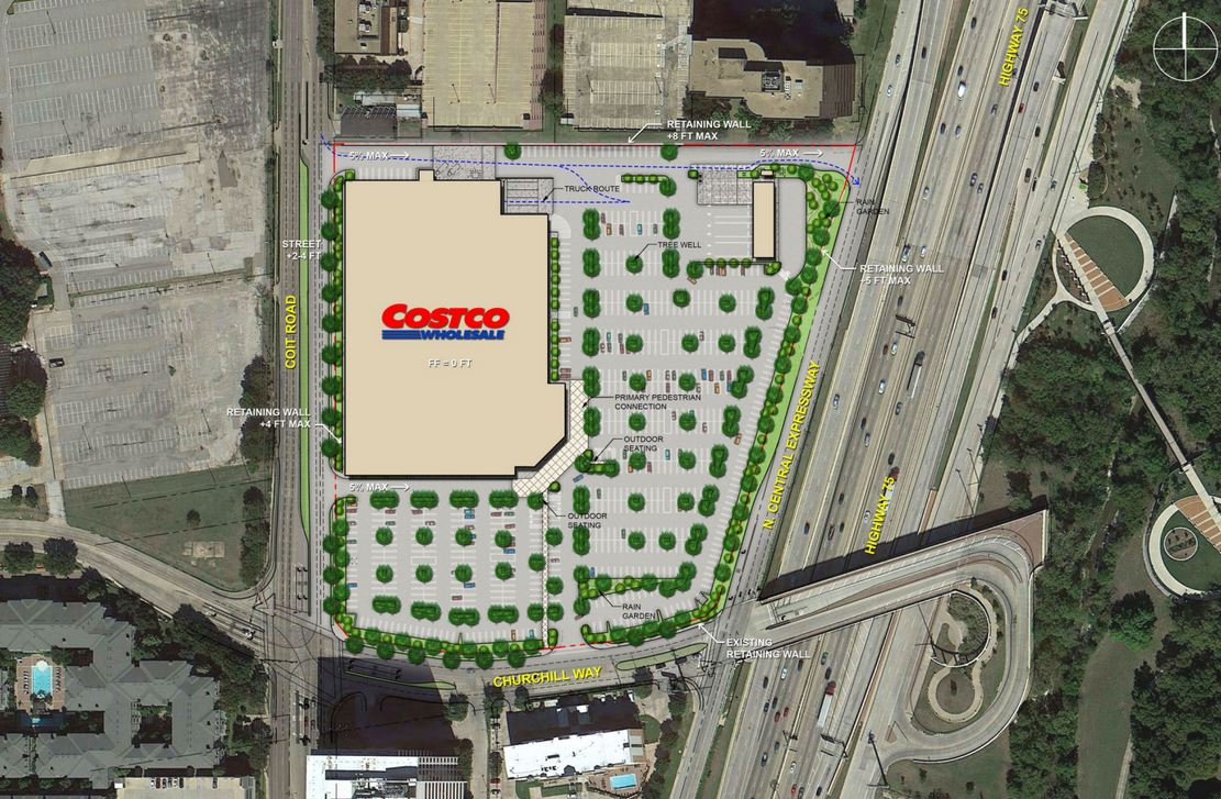 we have an opening date construction begins on long awaited costco store in north dallas retail dallas news