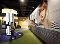 A 75-foot replica of Taylor Swift's tour bus is part of the new attractions at the Country Music Hall of Fame and Museum.( Mark Humphrey  -  The Associated Press )