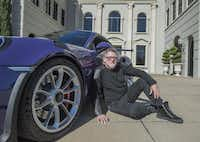 "Mark Dunn, owner of the purple Porsche, likes being able to shape his cars the way he wants them. ""Getting a new car is even more of a rush when you can do the customizing on it and make it your own,"" he says.( Photos by Rex C. Curry  -  Special Contributor )"