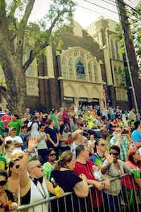 Oak Lawn UMC is a crowded place during Pride weekend in Dallas: during Sunday's parade, they open their doors for people to sit down, use the facilities or just get away.( Contributor photo by ALAN MASTERS )