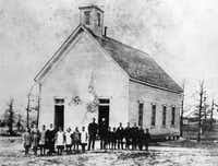 The Oak Lawn Methodist Church-Schoolhouse was built in 1874. This photo is from 1882.(Photo courtesy <TypographyTag14>Oak Lawn UMC</TypographyTag14> - 144244)