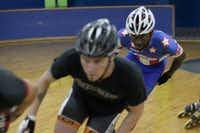 Inline speedskater Michael Ringer (rear) is training to represent Team USA in the Outdoor Worlds Championship scheduled for November in Argentina.(Photo submitted by JULIE HARRIS)
