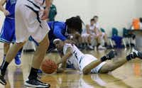 Canterbury Episcopal's Zach Rufus fights for the ball  in a game against Lakehill Preparatory School this past season.Staff photo by IRWIN THOMPSON - DMN