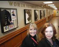 Two medical center administrators,  women veterans program manager Leslie Snowden-Crawford (left) and physician assistant Pamela Korzeniowski, came up with the idea for the Women Veterans Wall of Honor.(Photos by Ron Baselice - Staff Photographer)
