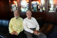 Former Irving mayors Robert Power, 79, (left) and Dan Matkin, 80, helped build the Cowboys' legacy in Irving and Valley Ranch. Though an official announcement has not been released, sources close to the team say the Cowboys are looking to relocate their headquarters and practice facility to Frisco in 2016.