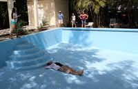 I took a moment to recline in the (empty) swimming pool at Ernest Hemingway's estate near Havana.