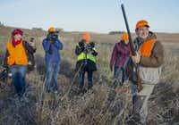 Cameras followed Cruz during a hunt hosted by Rep. Steve King, R-Iowa, in Akron, Iowa. Some Republicans blame Cruz for the blowback his party has endured since the 16-day shutdown ended, but the senator remains as popular as ever.
