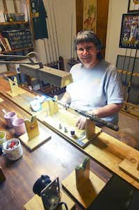 MaryLou VandeRiet, 75, has one bedroom in her Weatherford home dedicated to making fishing rods and another that's just for crafting crappie jigs.( Clare Miers )