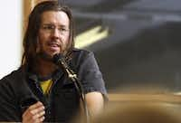 David Foster Wallace at the Strand bookstore in New York, Jan. 11, 2006.