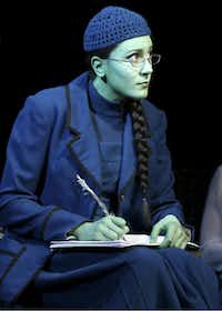 "Dee Roscioli as Elphaba in the tour of ""Wicked,"" coming to the Dallas Summer Musicals April 10-May 5, 2013"