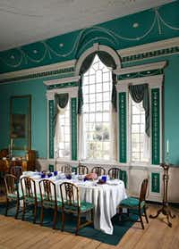 Visitors to Mount Vernon will remember that the space was identified as the Large Dining Room since 1981 and furnished with a long table usually set for a formal meal. Pictured is the room as it was staged in 2005.( Mount Vernon  -  The Washington Post )