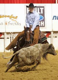 Lt. Gov. David Dewhurst - seen separating a cattle from the herd during National Cutting Horse Association competition in Fort Worth - is a member of the Texas Rodeo Cowboy Hall of Fame.