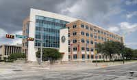 Jack Evans Police Headquarters is seen at 1400 S. Lamar Street (Photo by Stewart F. House/Getty Images)