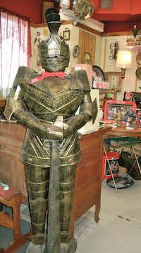 Unusual items such as this tin soldier abound at Lone Star Gifts.Helen Anders