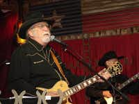 """""""Music is a very spiritual thing,"""" said Fritz Schultz, vocalist and guitarist of his band, the Dirty Boot Band, which plays every Sunday at Love and War in Texas as part of the Narrow Trail Cowboy Church services.Staff photos by JULISSA TREVIÑO"""