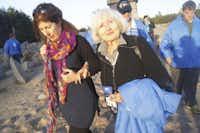 Magda Bader and her daughter, Anne Bader-Martin, at Treblinka concentration camp in Poland in April 2014( Naomi Martin  )