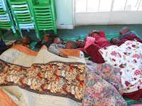 Donated quilts are given to orphans through ZimKids. Temperatures in Zimbabwe get as low as 35 degrees.Photo submitted by DEVONY DUHE