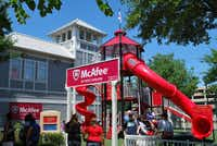 Playgrounds are part of the fun at Dr Pepper Ballpark during Frisco RoughRiders games.