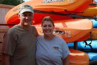 Jeff (left) and Pam Varnell opened Trinity River Kayak Company in July, a shop near the water that's the first of its kind in Coppell.
