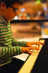 11-year-old Perren-Luc Thiessen performs on Piano.( Photo submitted by NIKOLA OLIC )
